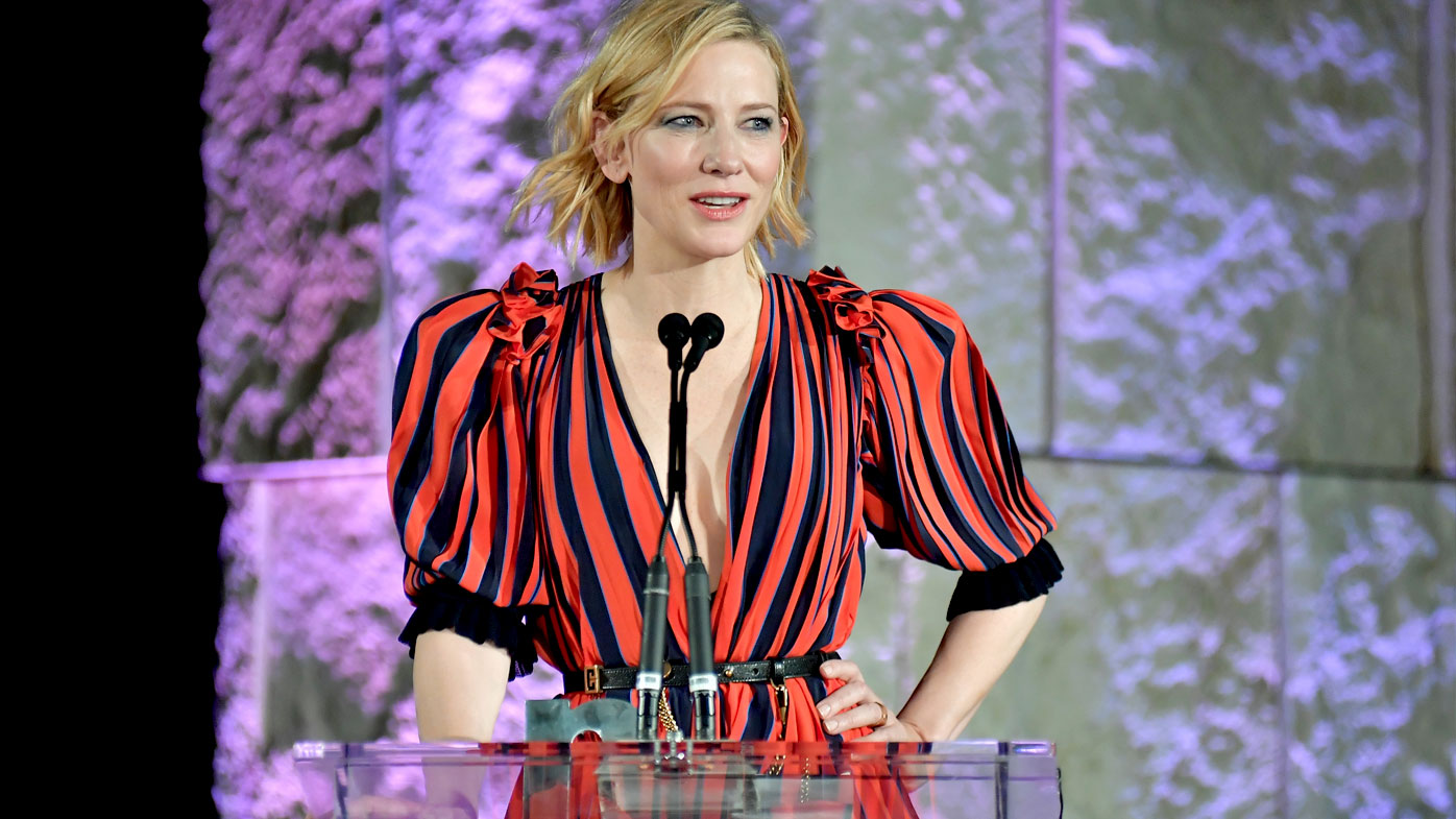 Cate Blanchett speaks at the third annual InStyle Awards. (Getty)