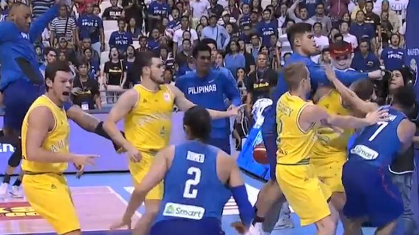 Philippines, Australia fined and 15 suspended for 'basketbrawl'