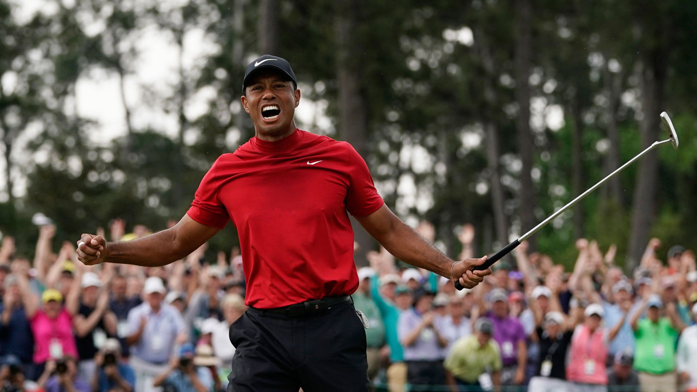 Tiger Woods has won a fifth Masters
