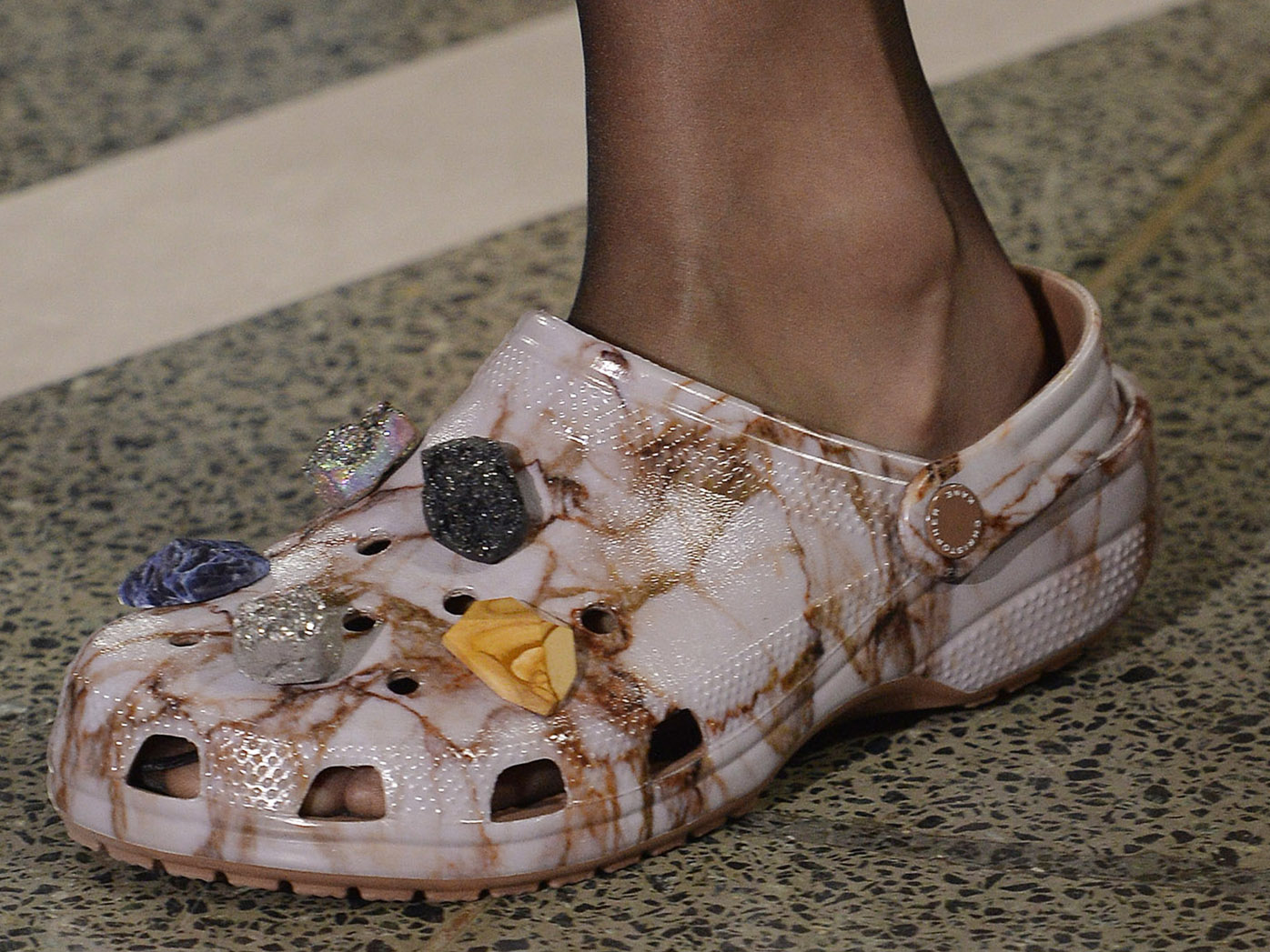 Embellished Crocs at Christopher Kane, spring/summer '17