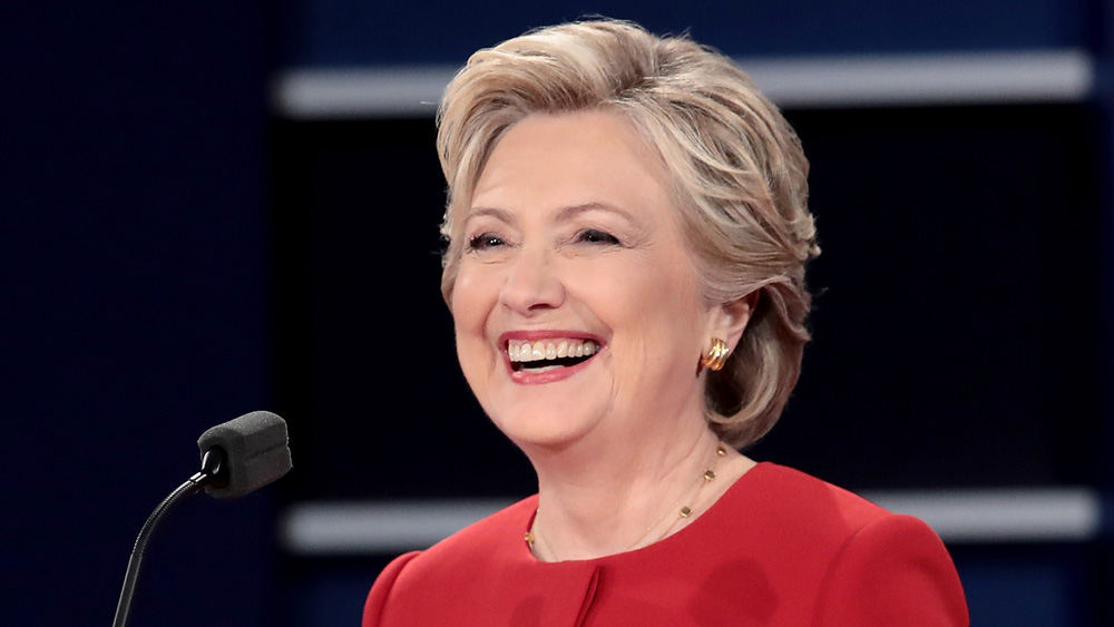 Hillary Clinton at the Presidential debate.