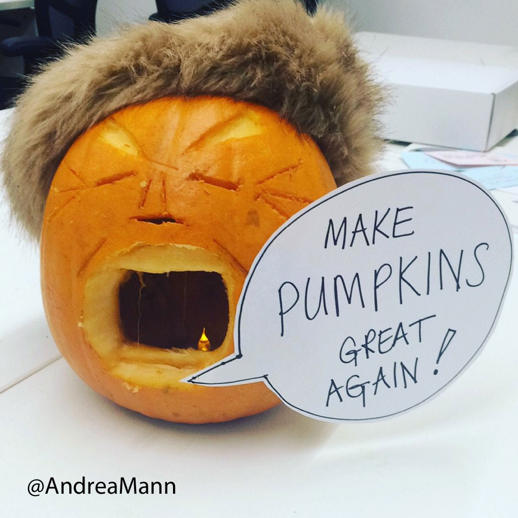 Out of all the spooky things associated with Halloween, the #trumpkins ...