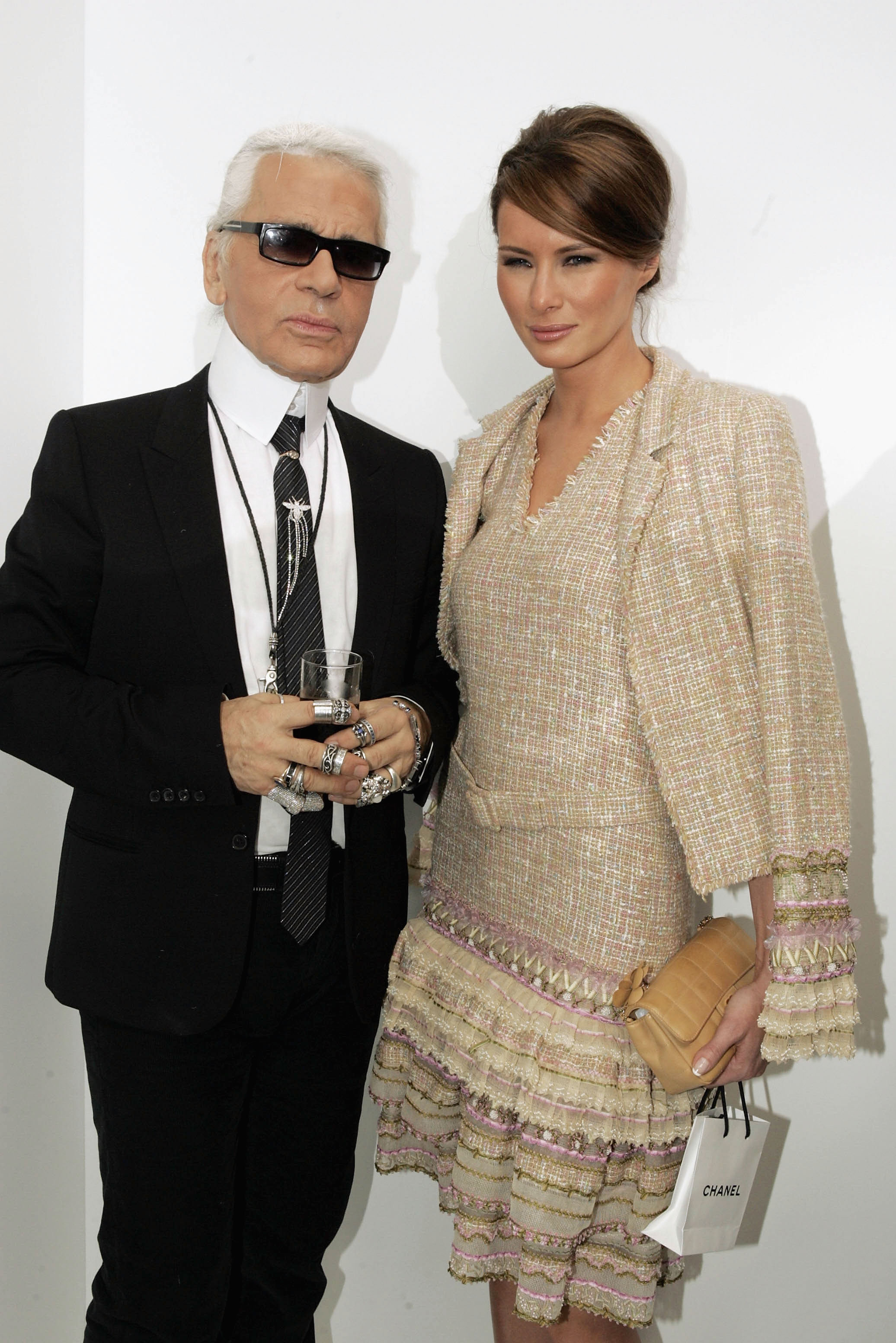 """<p>With Donald Trump as President of the US there will be two models moving through the White House with former runway regular Ivana Trump one of the First Daughters and former swimsuit model Melania Trump as First Lady.<br> Internationally it's not an unprecedented move with former supermodel Carla Bruni having gained admiration in Dior as Premier Madam of France but Melania's style is less well known.<br> Melania has fashionable shoes to fill with Michelle Obama having successfully championed US designers such as Jason Wu, Tracy Reese and Derek Lam.<br> Meanwhile, Melania in the past has shown a preference for international labels such as Gucci (who can forget that <a href=""""http://style.nine.com.au/2016/10/11/10/12/melania-trump-pussybow-blouse-pink-gucci"""" target=""""_blank"""">pussy bow blouse</a>?) and Roksanda.<br> Let's take a look at some of Melania's style moments while we wonder what her inauguration gown would look like.</p> <p>Melania Trump (nee Knauss) in Chanel with Karl Lagerfeld at Chanel, spring/summer '05, Paris.</p>"""