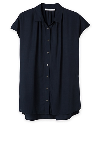 "<a href=""https://www.trenery.com.au/shop/womenswear/clothing/shirts/60199793/Short-Sleeve-Modal-Blouse.html"" target=""_blank"">Trenery</a> short sleeve shirt, $99.95"