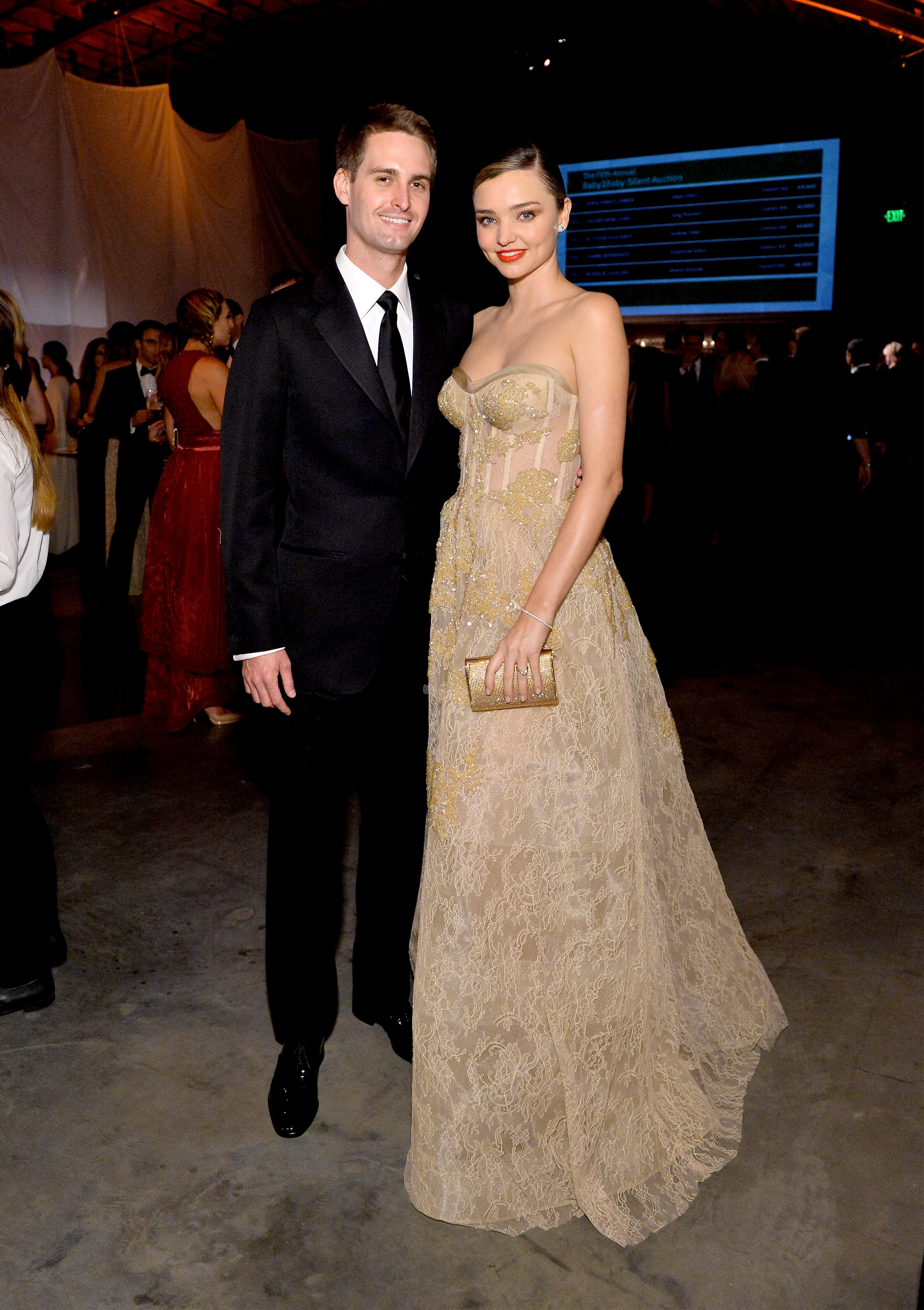 In her strapless Reem Acra gown with billionaire fiancée Evan Spiegel by her side, Miranda Kerr has given her strongest audition yet for what she will be wearing down the aisle.<br /> The pair attended the Baby2Baby gala on the weekend but the main event, Miranda's eagerly-anticipated second time as a bride, has designers eager to dress the supermodel.<br /> While Miranda, 33, has only indicated next year as the time of the main event, don't be surprised if her wedding to the 26-year-old Snapchat founder sneaks up on you. In 2010 Miranda secretly married Hollywood actor Orlando Bloom, catching the media off guard.<br /> There were no pictures of Miranda's wedding to Orlando but we expect the runway regular, founder of Kora skincare and Royal Albert ambassador to go bigger than Ben Hur (meets Balenciaga) this time.<br /> We've scoured the racks to find something suitable for a multi-million-dollar extravaganza. Cue the confetti.