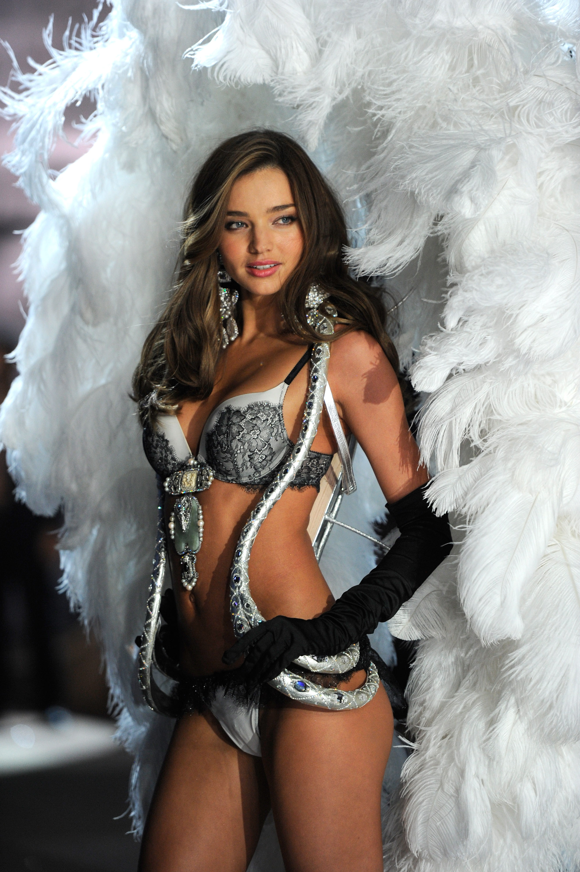 <p>10. Miranda Kerr </p> <p>Victoria's Secret Angel Miranda Kerr walks the runway during the 2012 Victoria's Secret show. </p> <p>Kerr walked in the Victoria's Secret shows from 2006 to 2012, skipping in 2010 when she was pregnant with her son Flynn Bloom. She walked away from her $1 million contract in 2013.</p>