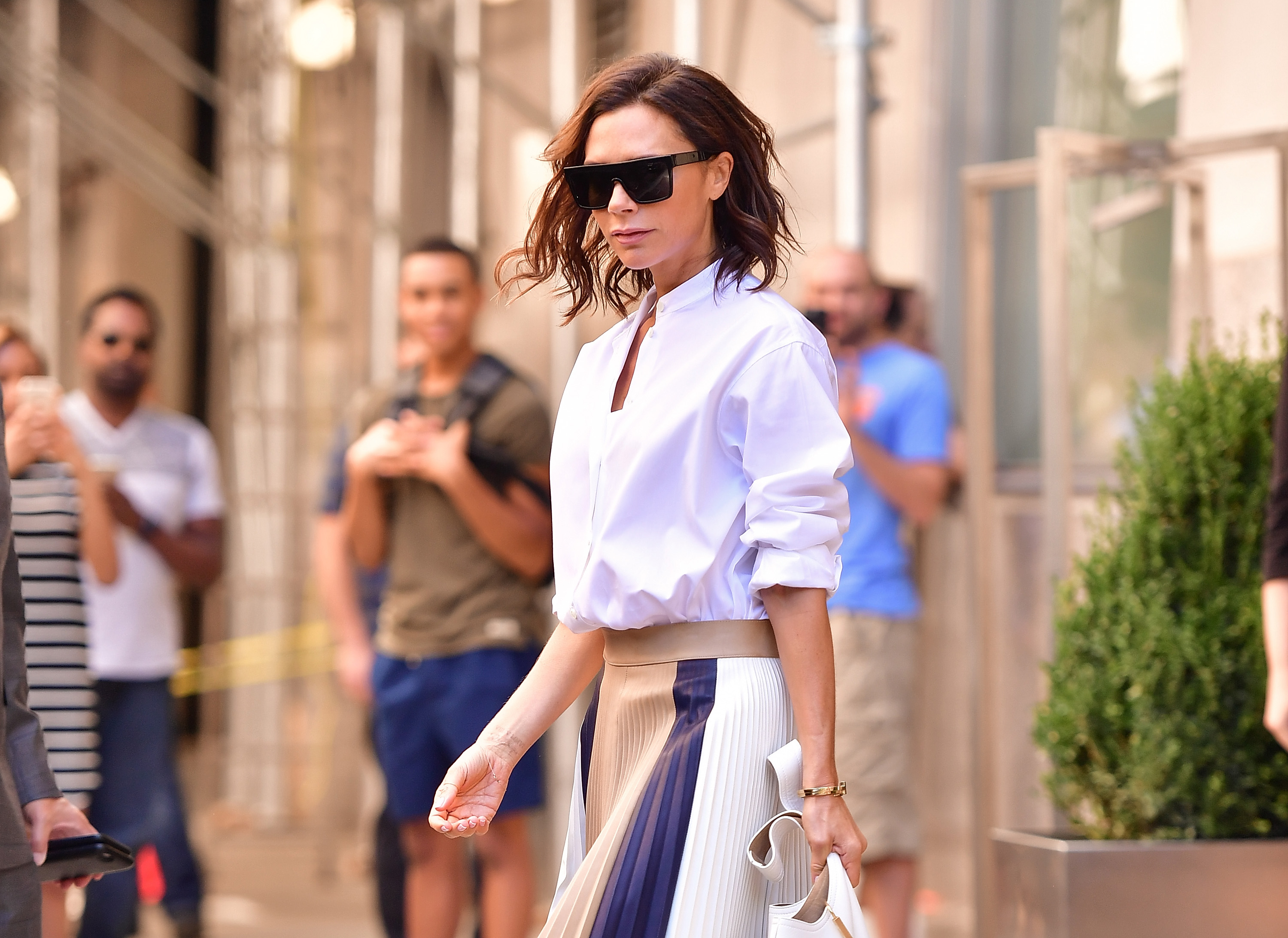 Victoria Beckham - a study in style. Image: Getty.