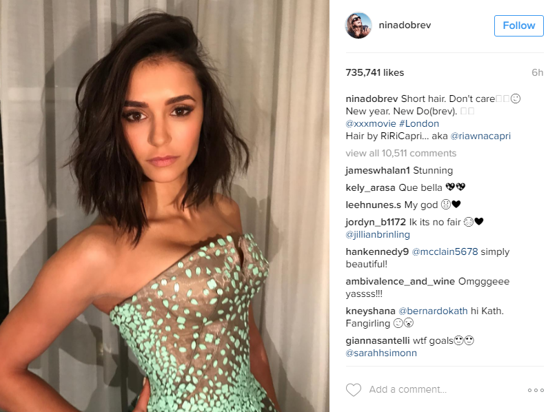 <p>Every now and again a certain style captures the imagination of celebrities and regular women alike. Right now it's the lob - that is, the shoulder-length (or long) bob. Get it?</p> <p>Just this week Nina Dobrev debuted her chic version, stunning her fans who took to Instagram to declare their excitement. But Nina is not alone when it comes to the love of the lob.</p> <p>Everybody's favourite It Girl Hailey Baldwin just cut her long locks into a mid-length choppy bob and raven-haired model and actress Emily Ratajkowski did too. </p> <p> Click through our pic gallery to see all three women and many more - perhaps you'll score some inspiration for your next cut and/or colour change. After all, January is well and truly upon us. New year, new you and all that.</p> Image: Instagram/@ninadobrev