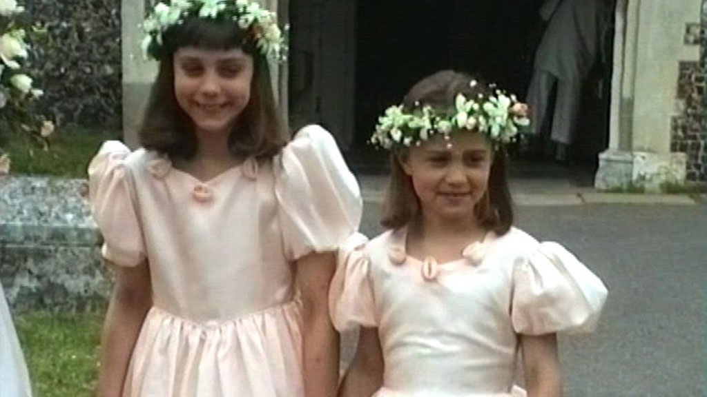 The Duchess of Cambridge and sister Pippa Middleton were bridesmaids at their uncle Gary Goldsmith's wedding in 1991.
