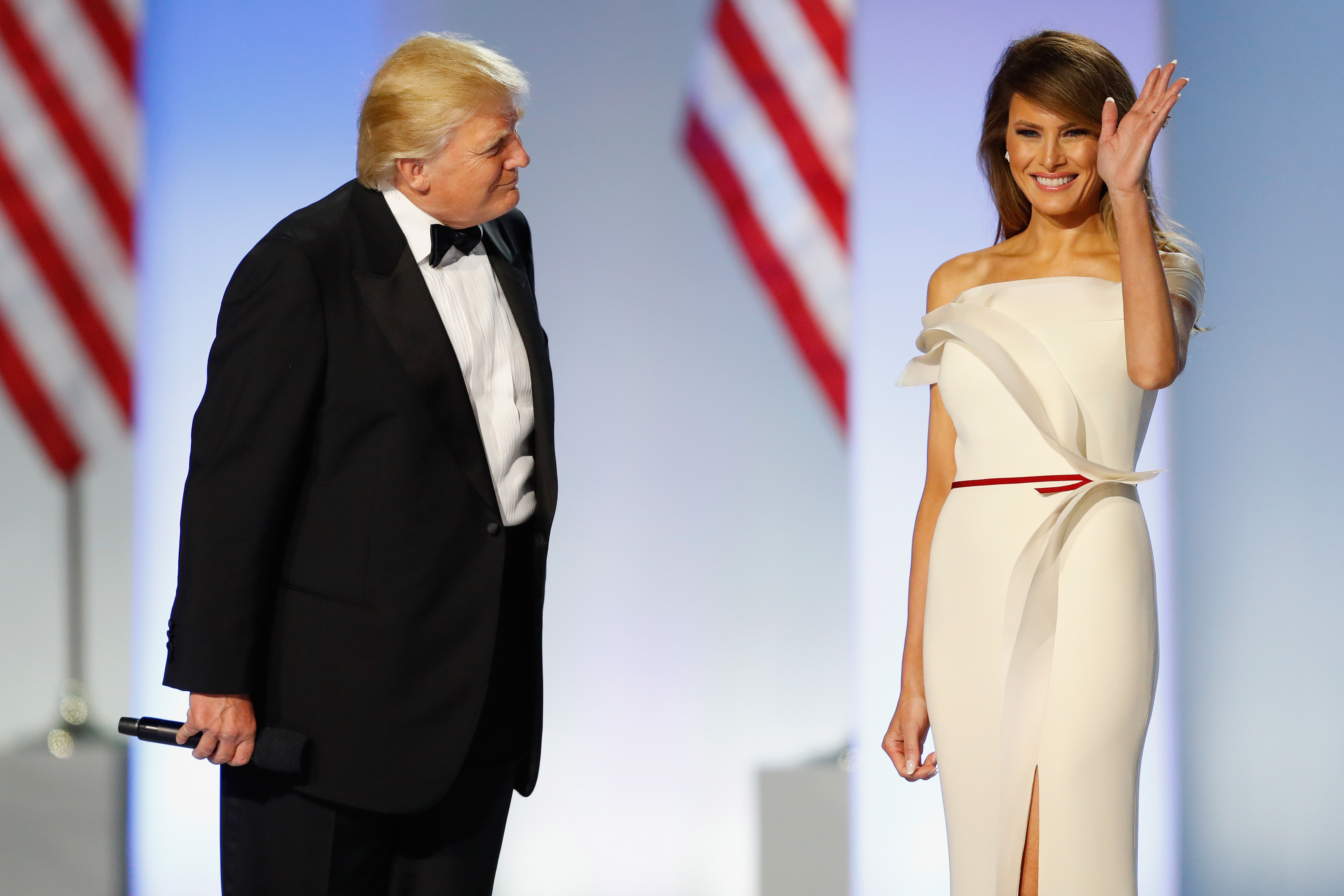 Melania Trump helped design her inaugural ball gown. That's not normal