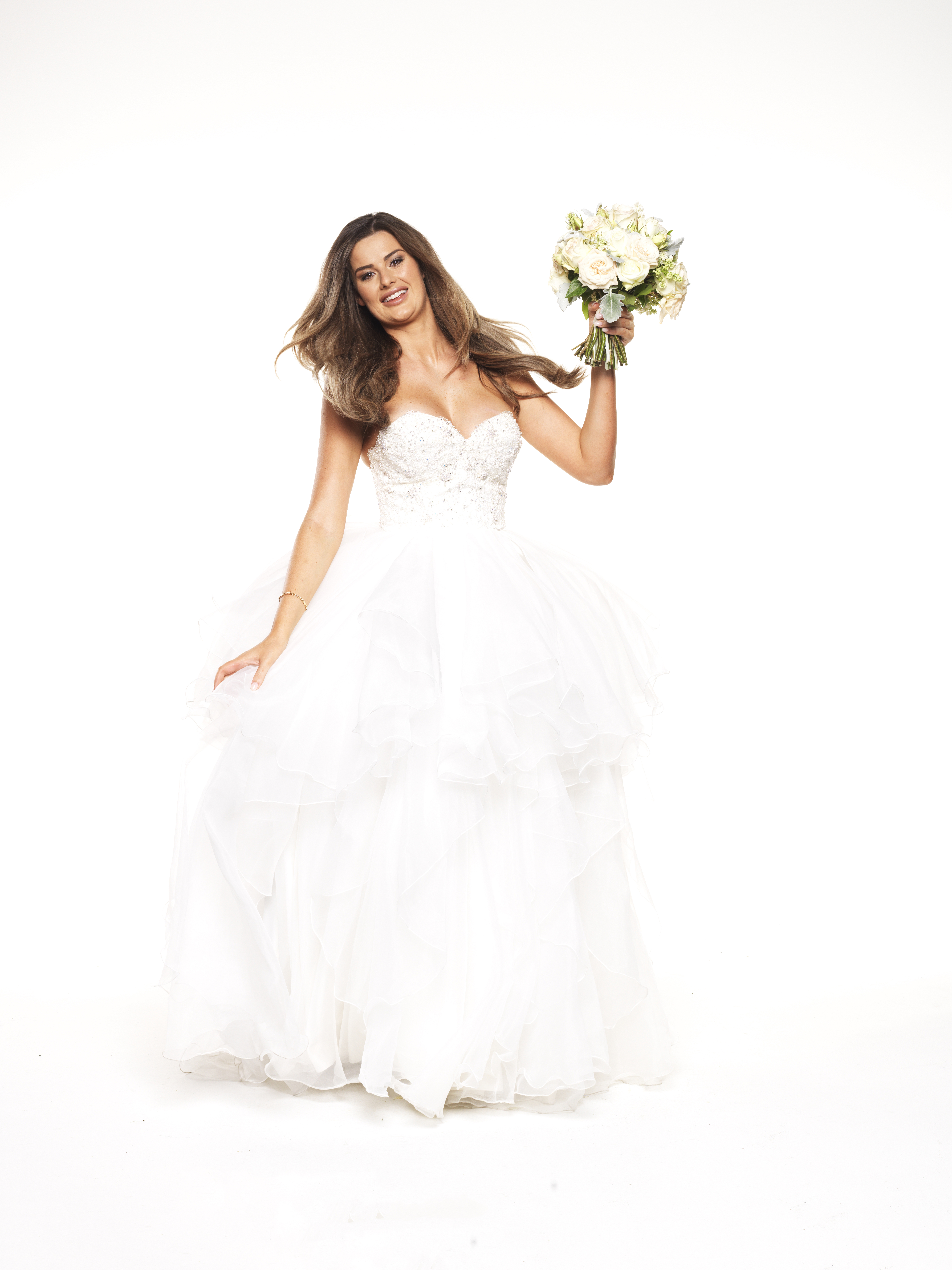 Wedding dress style on married at first sight 9style for Wedding dress skirt only