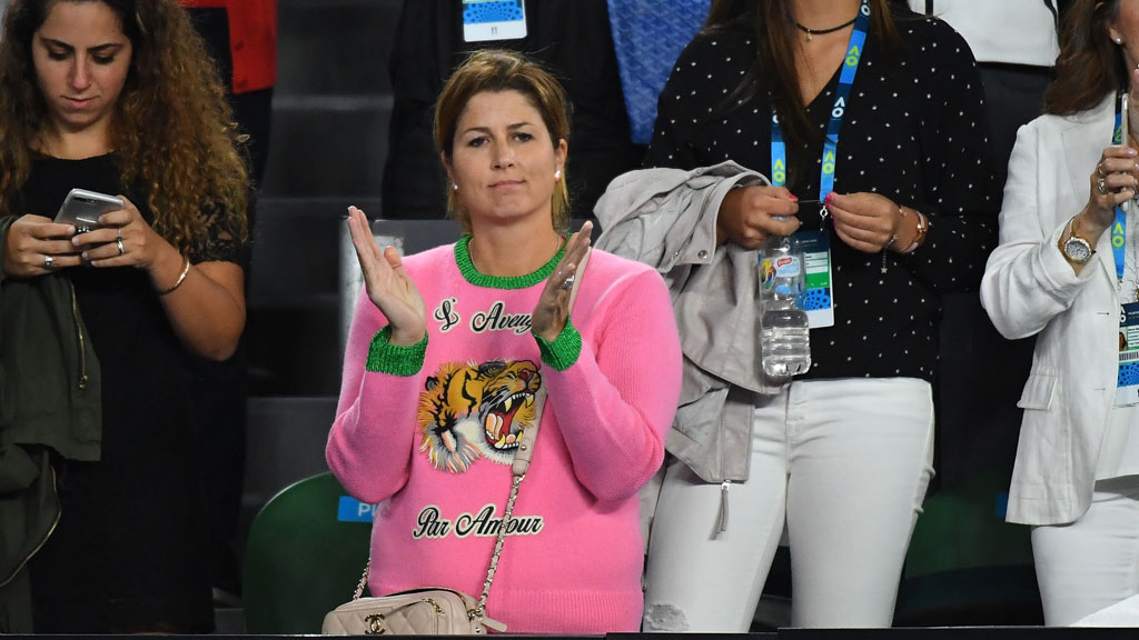 The internet really hates Mirka Federer's Australian open outfit
