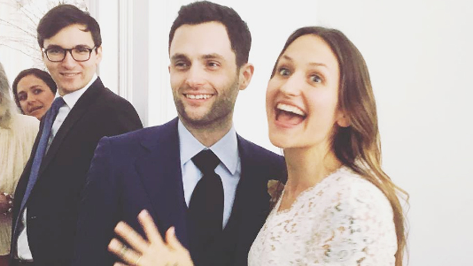 Penn Badgley Domino Kirke wedding