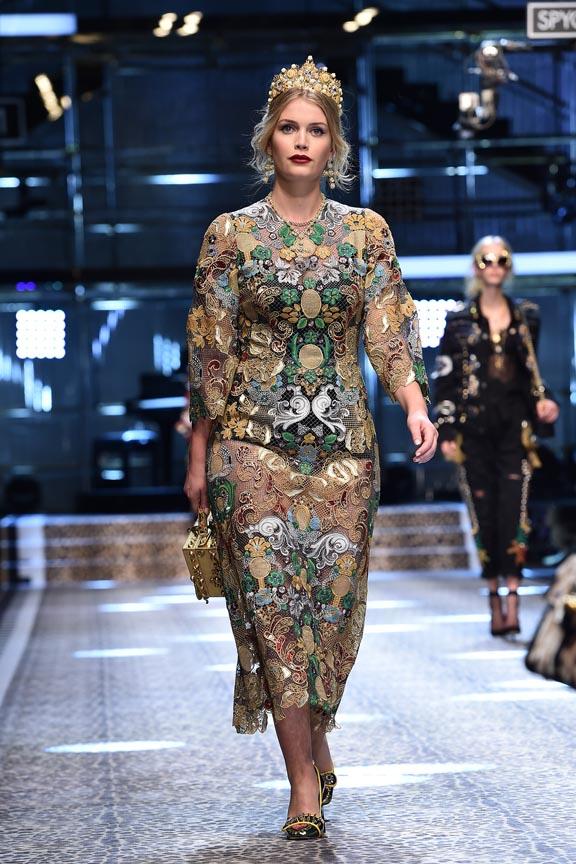 Lady Kitty Spencer at Dolce & Gabbana