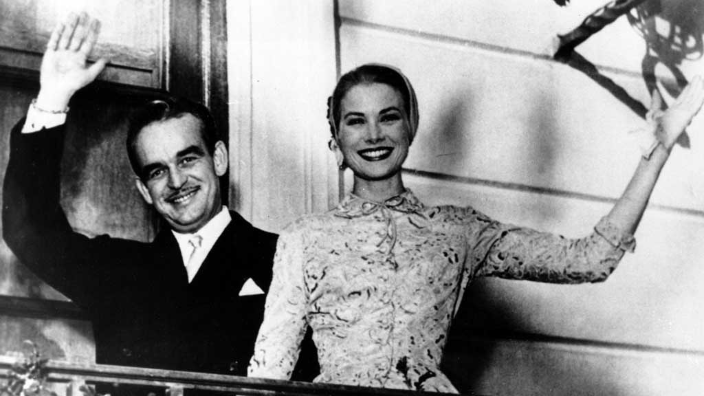 Prince Rainier and Princess Grace on their wedding day. (AAP)