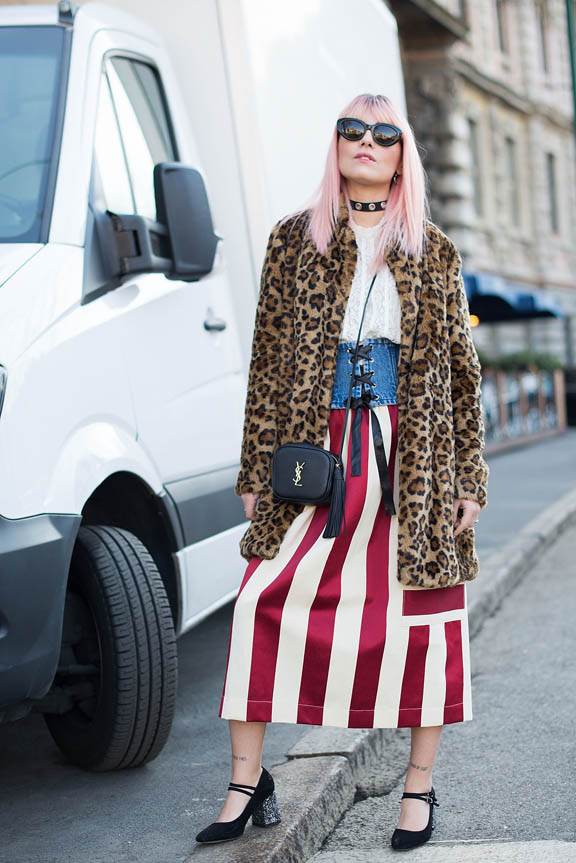 <p>The statement skirt is screaming on the streets of Milan and Paris.</p> <p>In the past handbags, shoes and slogan T-shirts have done the talking for street style targets but now fashion followers are showing their credentials with striped, embroidered, floral and sheer skirts that balloon to the ankles or rise to dangerous heights.</p> <p>Here's our pick of skirts that are really saying something.</p>