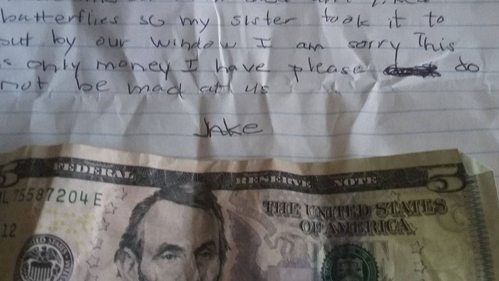 Thieves Post Heartbreaking Apology Letter On Victims Door
