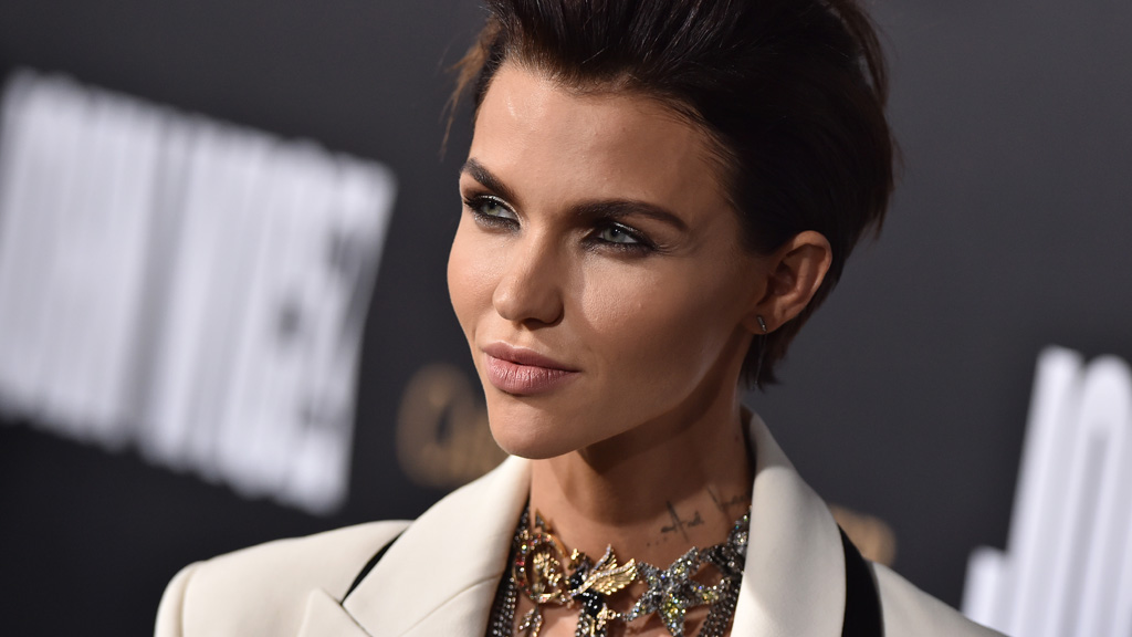 Model and actress Ruby Rose doing her best 'blue steel'. Image: Getty.