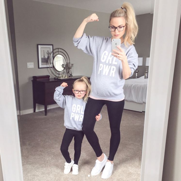 <p>Part of the fun of having a daughter is twinning. From matching outfits to hairstyles - even fish face selfies.</p> <p>We've pulled together a collection of big-name celebrity mummies and influencers  who love playing copycat style with their daughters.</p> <p>Just like lifestyle blogger Kate Weilz, who donned matching Girl Power tees and high pony tails with her young daughter. </p> <p>Swipe through for more mother/daughter mirror-image styling...</p>