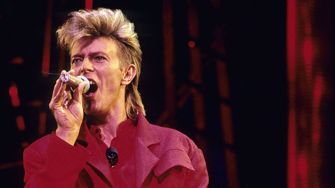 David Bowie performs in New York, 1987.