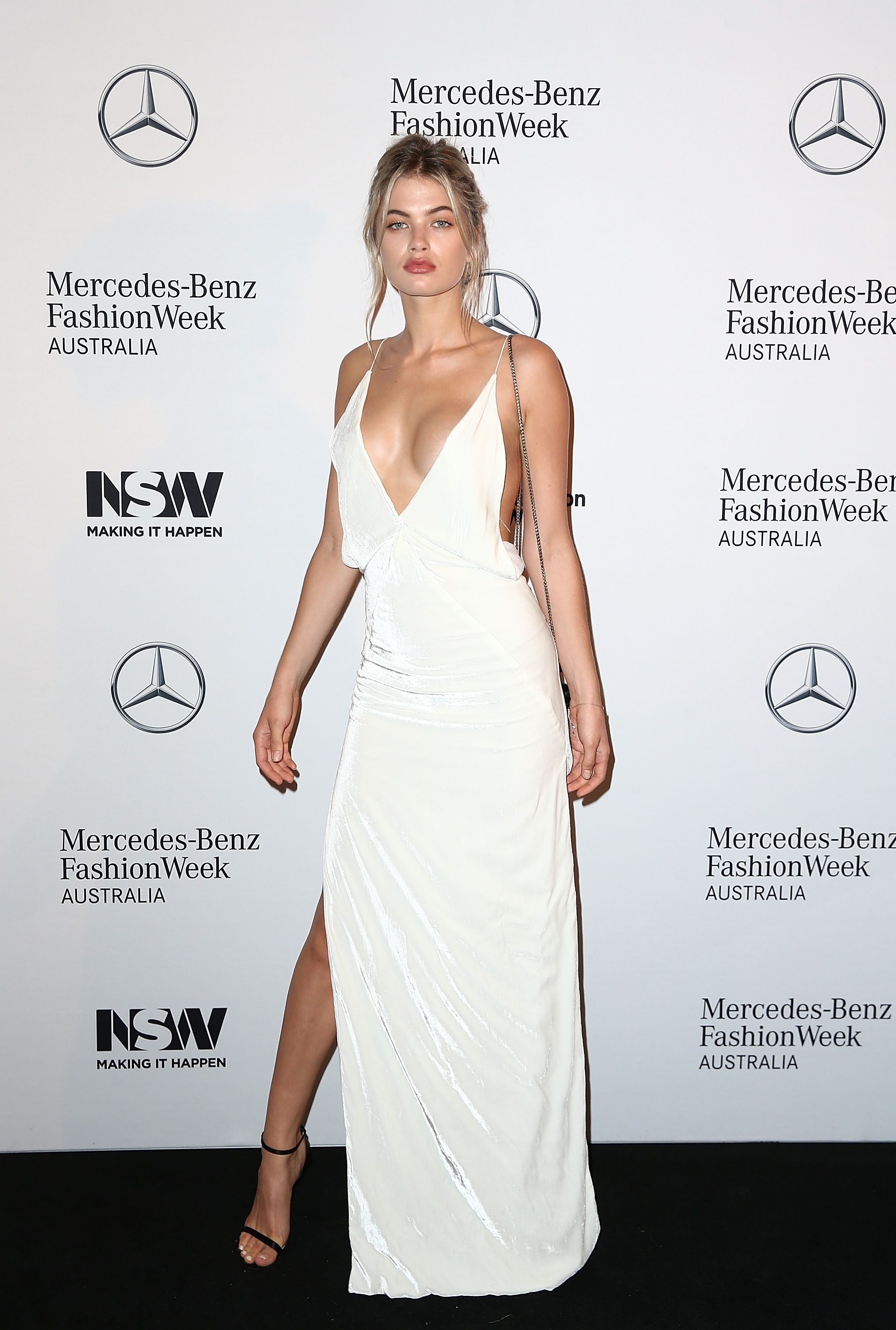 <p>Last night Sydney's leading designers and red carpet regulars descended on the Ovolo Hotel in Woolloomooloo for the progam launch of Mercedes Benz Fashion Week Australia 2017.</p> <p>Joining familiar names such as Alice McCall, Akira, Bianca Spender, Dion Lee, Kit Willow with KitX, Romance Was Born, Ginger & Smart and Bec & Bridge on the schedule were an onslaught of emerging brands such as Justin Cassin, Vale Denim and Yousef Akbar.</p> <p>Following last year's introduction of international brands, with appearances from Cynthia Rowley and Oscar de la Renta, MBFWA will welcome US male model Garret Neff's budding mens' swimwear label Katama.</p> <p>Mercedes Benz ambassador, New York-based Dion Lee, will open the event on May 14.</p> <p>This will be MBFWA's second year presenting resort collections in a bid to gain relevance in an industry where the show structure is under siege.</p> <p> </p> Model Megan Blake Irwin.