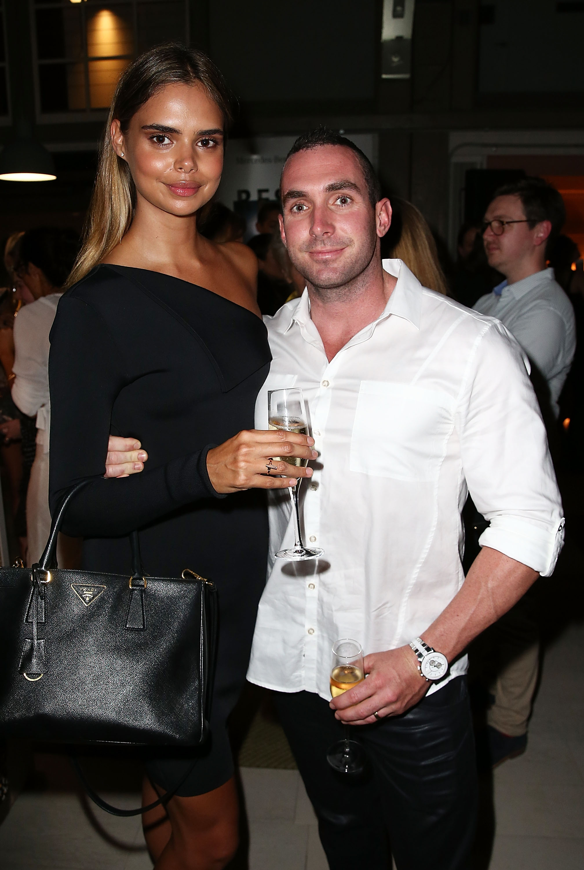 Model Samantha Harris and husband Luke Hunt.