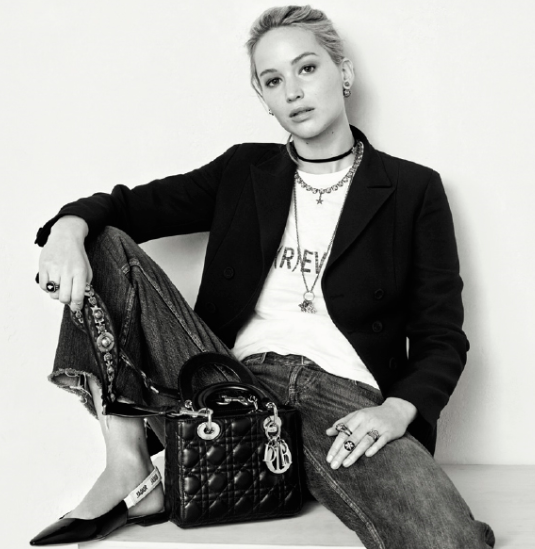 <p>Oscar-winner and serial pratfall executor Jennifer Lawrence is serving up the goods for Dior in their latest campaign.</p> <p>The in-demand Hollywood star looks laid-back in the latest looks from Dior creative director Maria Grazia Chiuri, swapping the house's signature gowns for simple jeans.</p> <p>Adding further girl power to the striking black and white campaign was star photographer Brigitte Lacombe. </p> <p>Lawrence has been an ambassador for Dior since 2012, wearing the outfit regularly on the red carpet during the press tour for Passengers. See some of her best looks here.</p> <p> </p> <p>Dior, autumn '17.</p>