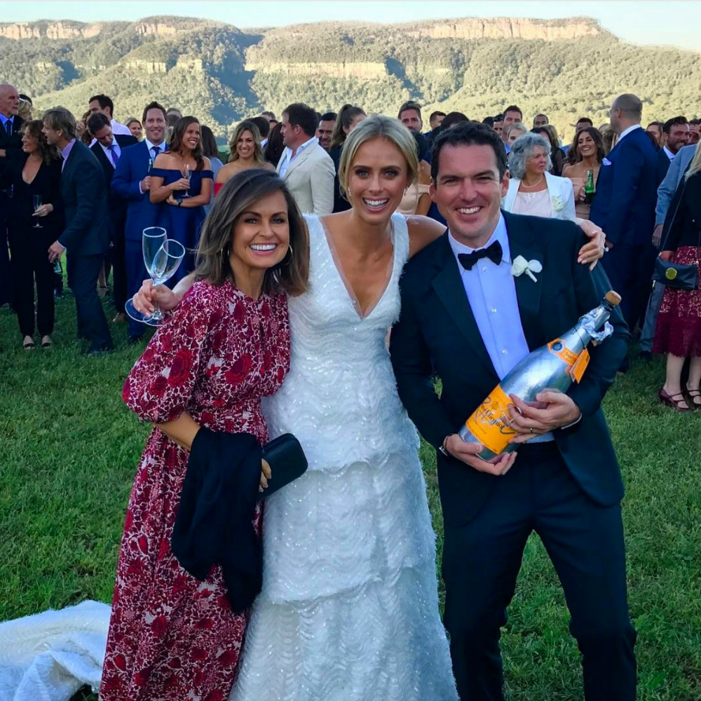 karl stefanovic and jasmine yarbrough sit front row at