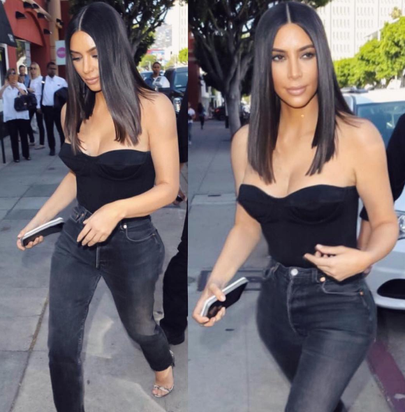 """<p>Kim K is certainly back but her long locks are not. The reality star has swapped her beloved extensions for a brand new straight and short """"lob"""" hairstyle. </p> <p>Celebrity hairstylist Chris Appleton is responsible for the new look and we cannot get enough of it on Kim.</p>"""