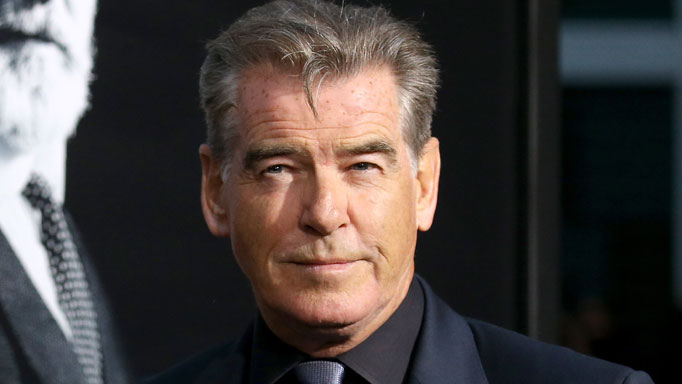 Pierce Brosnan arrives at the Los Angeles premiere of AMC's 'The Son'.