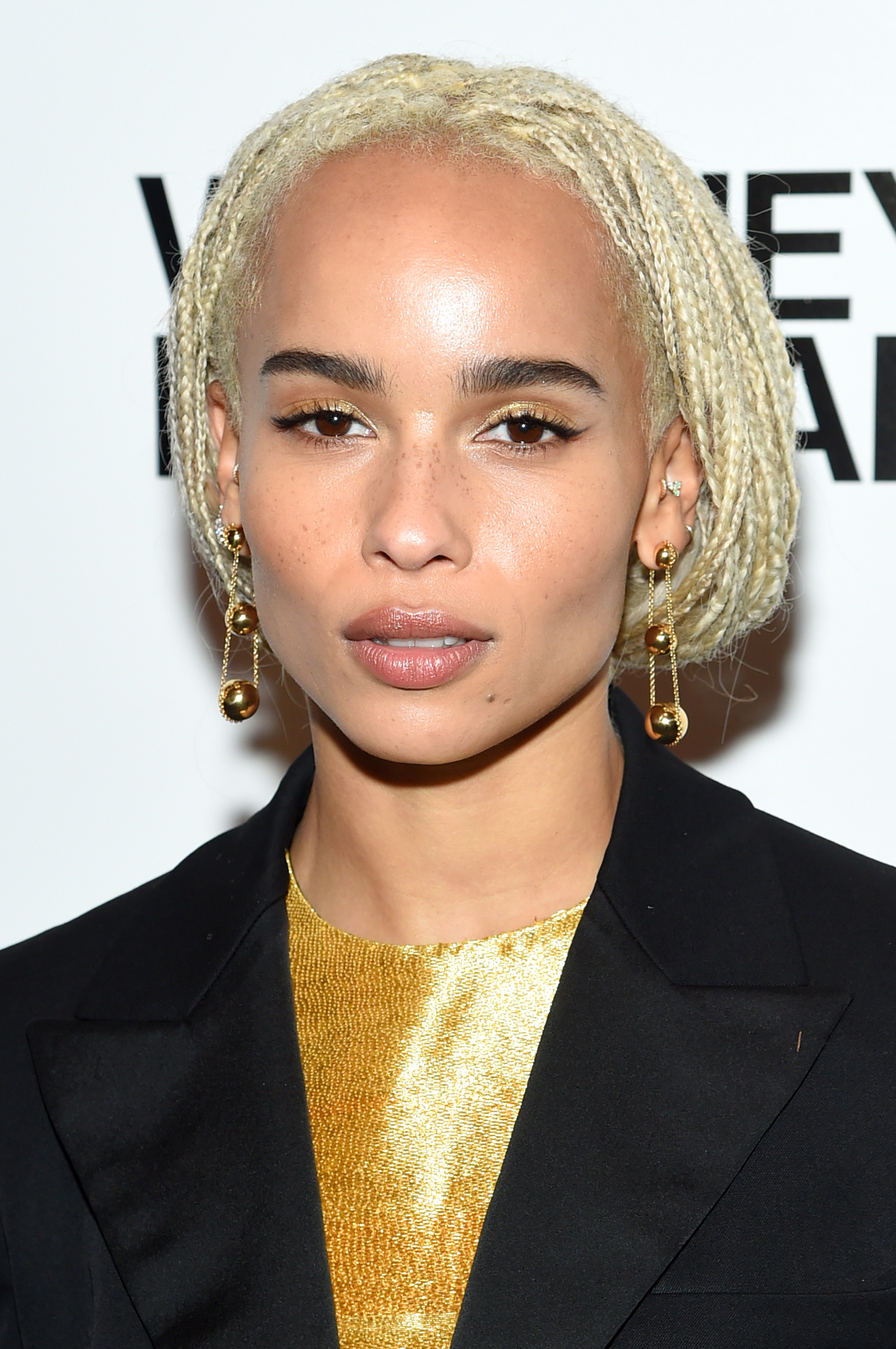 """<p> Actress <a href=""""http://style.nine.com.au/2016/01/19/09/56/zoe-kravtiz-style-file-2016"""" target=""""_blank"""" draggable=""""false"""">Zoë Kravitz</a>has inherited her father Lenny Kravitz's rock star attitude, especially when it comes to her hair. The <em>Big Little Lies</em> stars latest cut might be her boldest move yet, debuting a daring platinum blonde and on –trend  buzz cut via her <a href=""""https://www.instagram.com/zoeisabellakravitz/?hl=en"""" target=""""_blank"""" draggable=""""false"""">Instagram account</a>.</p> <p>The<em></em>part-time musicianteased her new look by first posting a photo of a pile of blonde hair on the floor, captioning it """"Oh sh*t part 1."""" After what seemed like hours of anticipation, Zoe finally posted a selfie of her new hair with the hashtags #new look# and #whodis#.</p> <p>Zoë'snew look may  solidify her status at the queen of cool when it comes to making major hair moves (sorry <a href=""""https://style.nine.com.au/2017/04/05/09/23/style_micro-blading-top-five-tips"""" target=""""_blank"""" draggable=""""false"""">Bella Thorne</a>). The actress has previously rocked long braids, cornrows, and platinum blonde locks, but we think this is our favourite look from her yet.</p> <p> Click through to see Zoë's dramatic transformation and the looks from other celebrities who have also recently made dramatic hair changes.</p>"""
