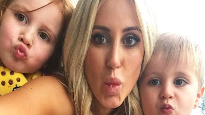 Roxy Jacenko with Pixie and Hunter Curtis.