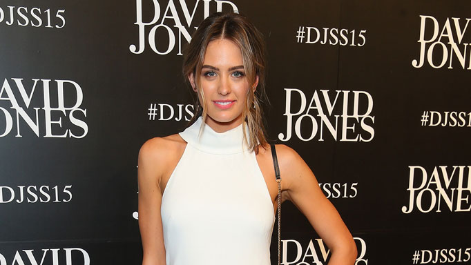 Jesinta Campbell arrives at the David Jones Spring/Summer 2015 Fashion Launch