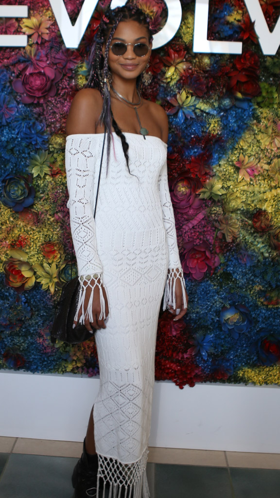"""<p>Supermodel Chanel Iman was at her bohemian best at this year's Coachella, opting for a white off-the-shoulder crochet dress, statement jewellery and multi-coloured braids to lead the way  for the Victoria's Secret angels, <a href=""""https://style.nine.com.au/2017/04/17/18/29/coachella-supermodel-katy-perry"""" target=""""_blank"""" draggable=""""false"""">whose desert attire took over the two-weekend festival.</a></p> <p>  Kendall Jenner mixed up her own signature look and Josephine Skriver made<a href=""""http://style.nine.com.au/2017/04/18/13/46/style_coachella-beauty"""" target=""""_blank"""" draggable=""""false""""> bold hair and makeup moves</a> that are certain to serve as major style inspiration beyond the desert.</p> <p>The angels weren't the only ones who made waves in the style stakes among the A-list this year. Sofia Richie, Poppy Delevingne and Rihanna in a $11,220 crystal embroidered Gucci bodysuit more than made their mark at this year's Coachella.</p> <p>Click through to see our picks of the best outfits and looks.</p>"""
