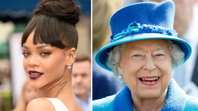 Rihanna photoshops Queen's face onto her body, not everyone is impressed