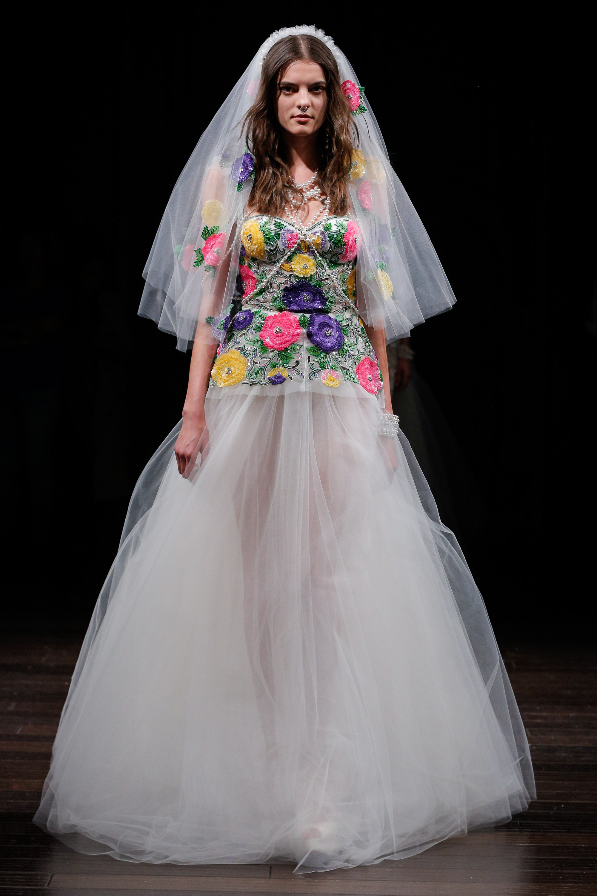 The best wedding dresses from new york bridal fashion week for Wedding dress boutiques in nyc