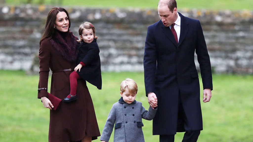 Princess Charlotte Prince George Prince William Kate Middleton Christmas service