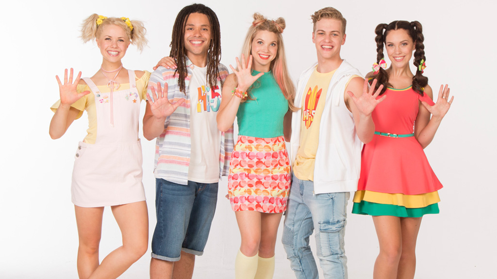 The new cast of Hi-5: from left, Shay, Joe, Bailey, Lachie and Courtney. Image: supplied