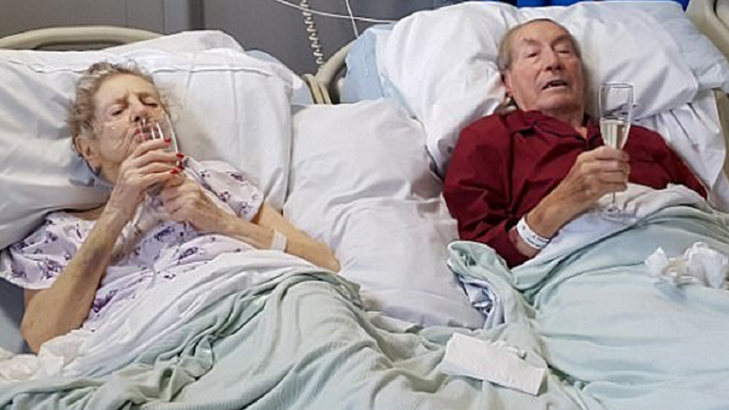 Husband's Hospital Bed Moved Next To Dying Wife For Her