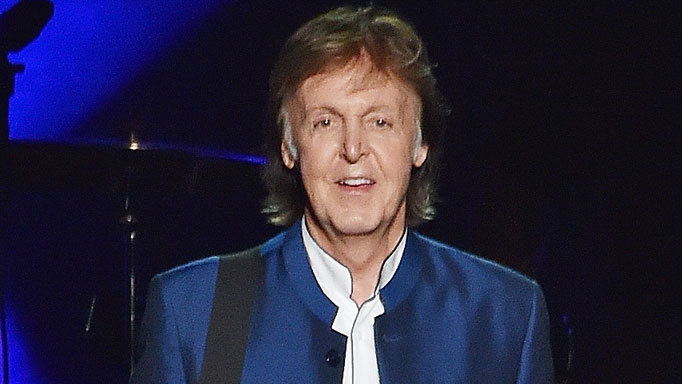 Paul McCartney performs.