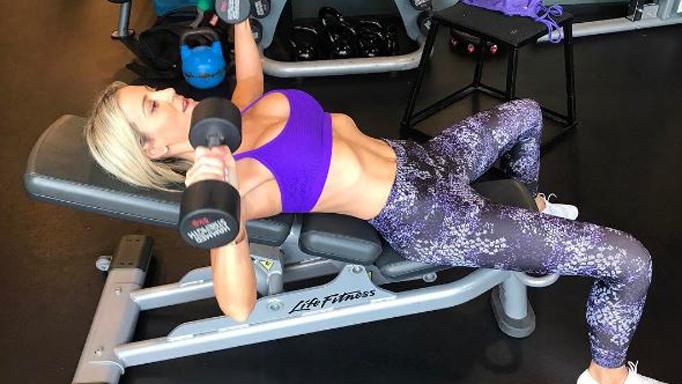Roxy Jacenko busty gym pic