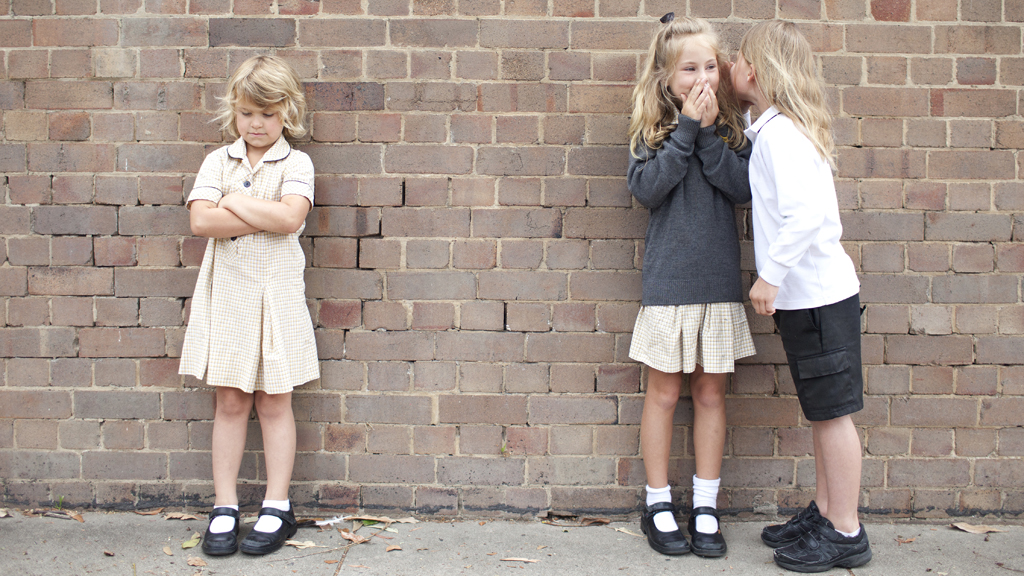 You can teach your kids how to cope with bullies with the following tips. Image: Getty.