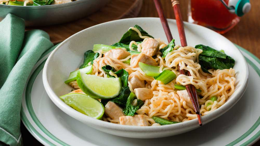 "Recipe: <a href=""http://kitchen.nine.com.au/2017/04/04/16/23/sweet-chilli-chicken-noodles"" target=""_top"">Sweet chilli chicken noodles</a>"