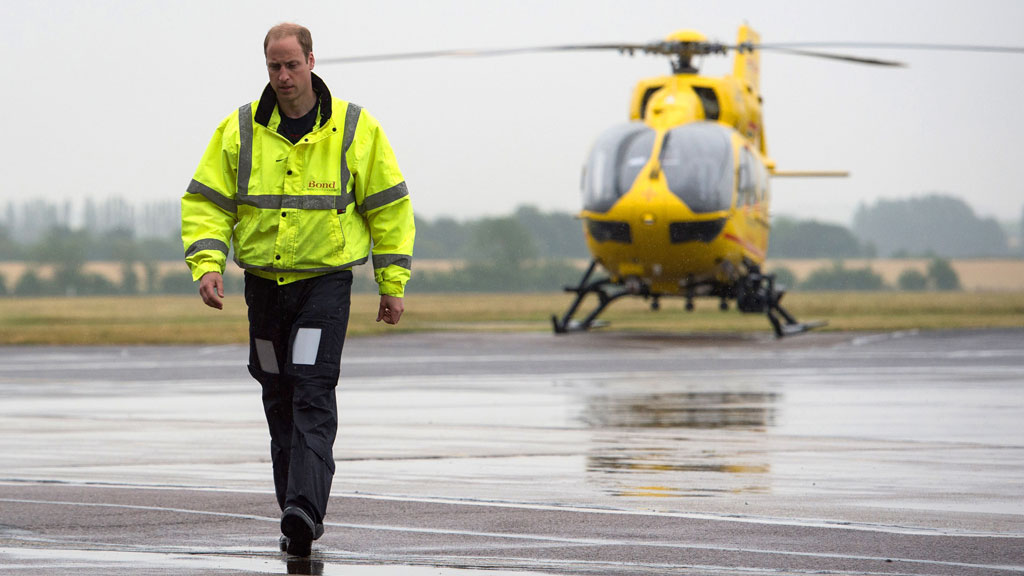 William pays tribute to air ambulance crew
