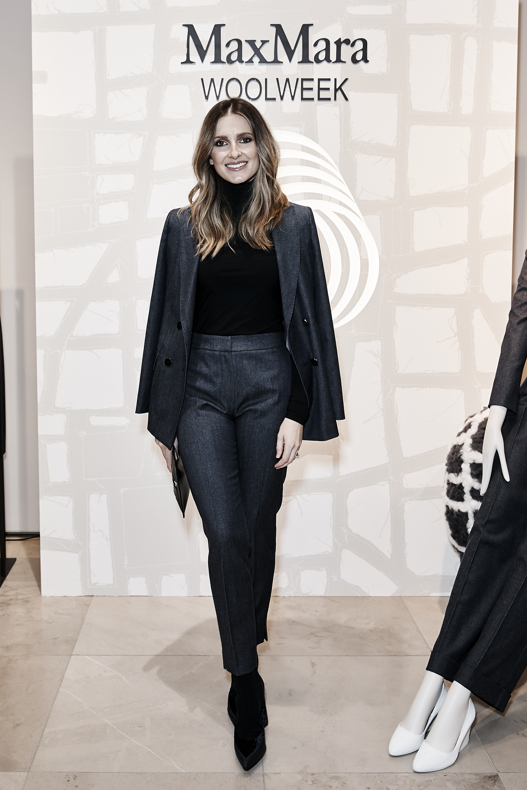 "<p>Racing heiress and fashion blogger, the ever-polite and ever-chic Kate Waterhouse, has shown that wearing double denim doesn't always have to be a disaster of Britney Spears sized proportions.</p> <p>In top-to-toe Max Mara, Kate road-tested a new fabric developed by the enduring Italian fashion label using Merino Wool. The wool blend looks like denim but still has the warmth and softness delivered off the back of Australian sheep. </p> <p>To celebrate the collection landing at Max Mara's Sydney store, The Woolmark Company invited the local media pack to preview the fabric innovation.</p> <p>""We are very pleased to have Max Mara showcasing Merino wool at its finest,"" said The Woolmark Company managing director Stuart McCullough. ""Merino wool is a luxurious, innovative, natural fibre and Max Mara's latest Autumn/Winter collection highlights wool's modernity and global relevance in high-end fashion"".</p> <p>On hand to applaud Kate's successful interpretation of the Texan Tuxedo was Vogue Australia editor Edwina McCann, Harper's Bazaar editor Kellie Hush and Victoria's Secret model Elyse Taylor.</p>"