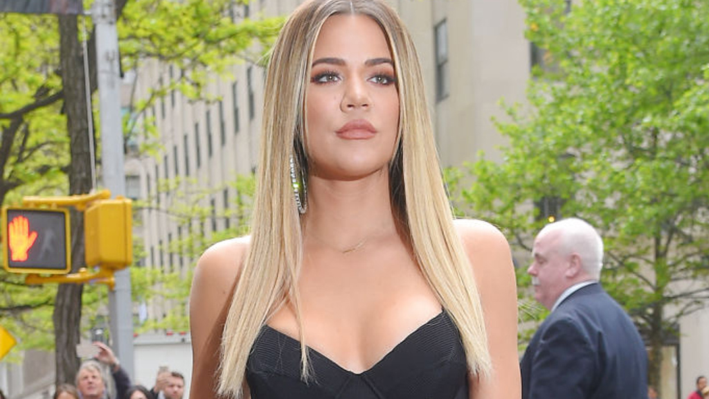Khloe Kardashian with extensions. Image: Getty