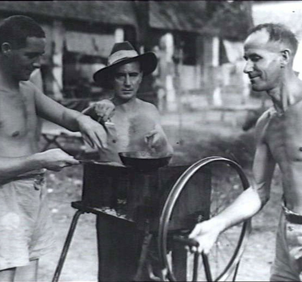 Barbecue for liberated POWs