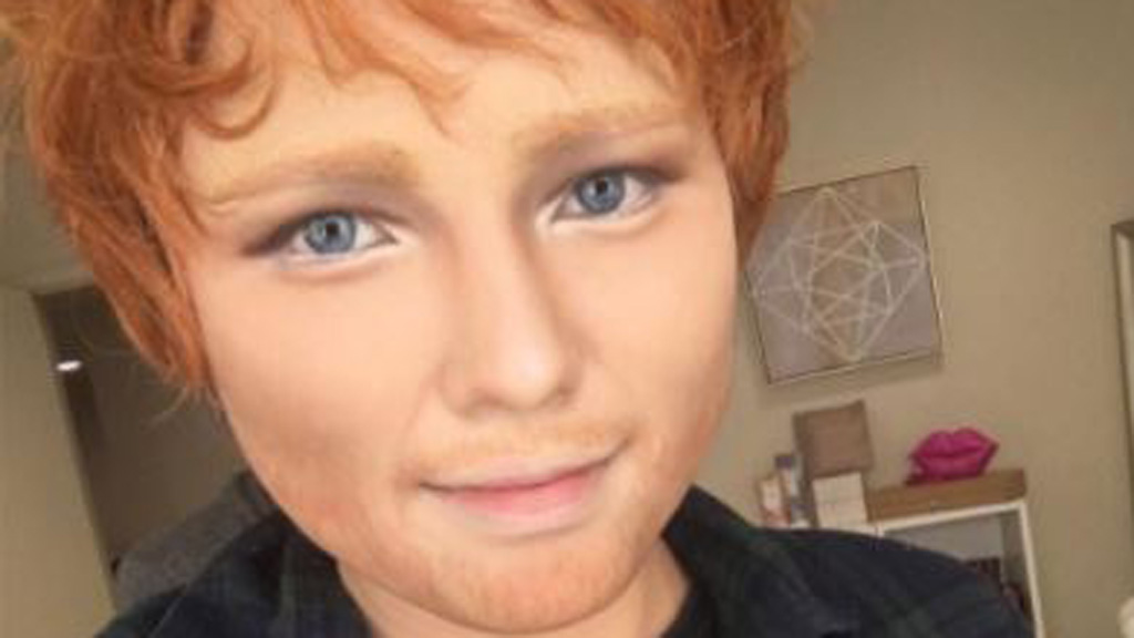This beauty blogger transformed herself into Ed Sheeran