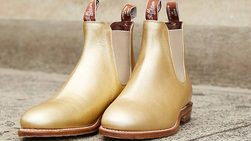 R.M Williams has designed a pair of golden boots