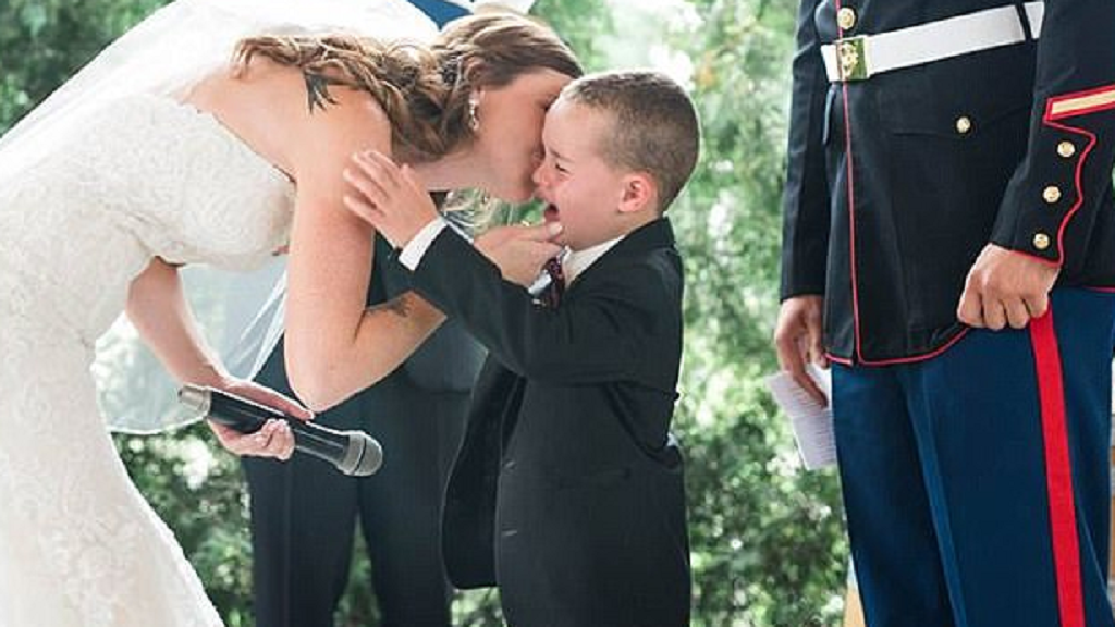 Stepmom's vows to 4-year-old future son make him cry